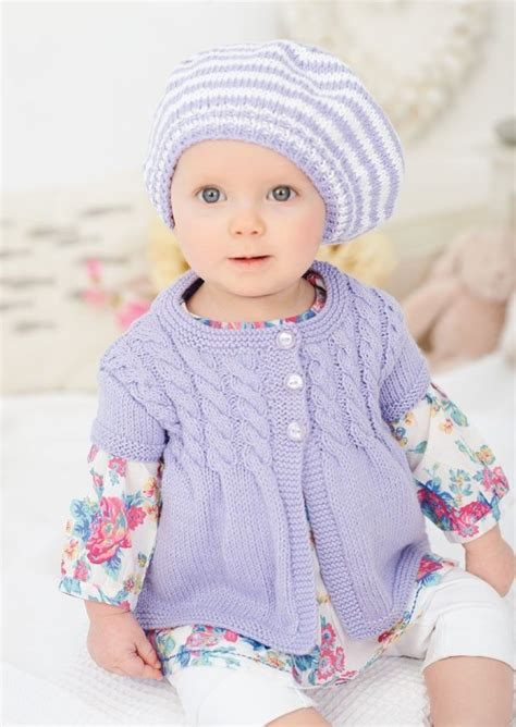 summer baby knitting patterns pretty summer cardie and hat knitted in king cole