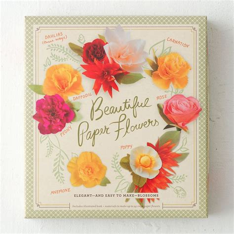 Paper Flower Kit - paper flower kit paper flowers paper and colorful