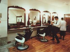 home interior shop populating the barber shop decor in the