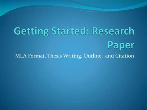 started research paper powerpoint