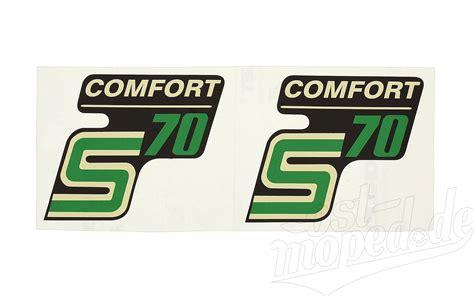 Aufkleber F R Moped by Simson S70 Comfort Aufkleber Satz F 252 R Seitendedeckel