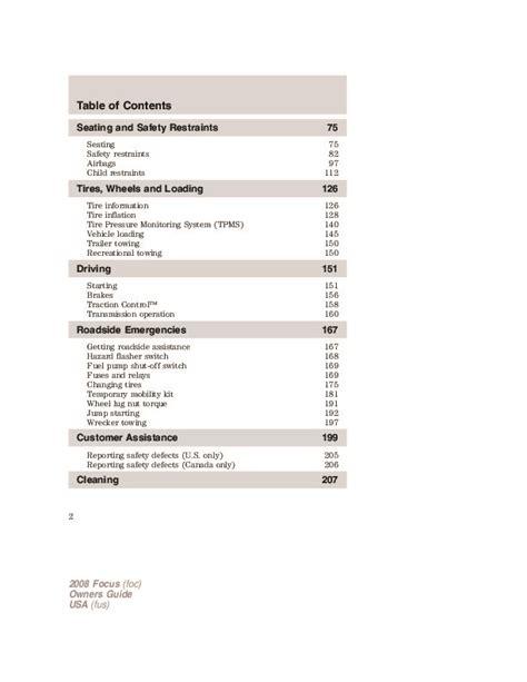 car repair manuals online pdf 2008 ford focus interior lighting 2008 ford focus owners manual