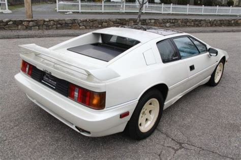 old car manuals online 1988 lotus esprit parking system 1988 lotus esprit 21 050 miles white coupe 2 2 liter manual for sale lotus esprit 1988 for