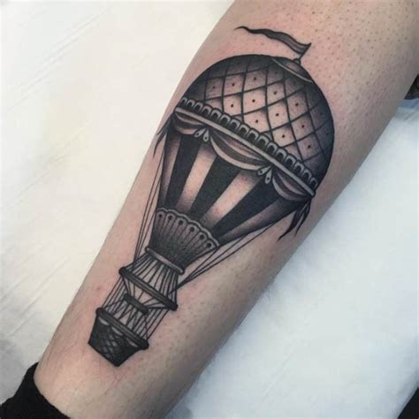 tattoo meaning hot air balloon 48 incredible hot air balloon tattoo designs tattooblend