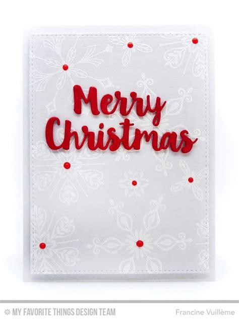 favorite  die namics merry christmas