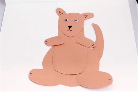 Kangaroo Paper Craft - letter k craft kangaroo paper craft mrs karles sight