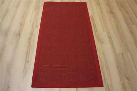 teppich 250x300 sisal teppich manaus mit bord 252 re rot 250x300 cm 100 sisal