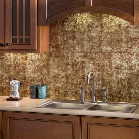 kitchen wall panels backsplash 18 in x 24 in traditional 1 pvc decorative backsplash panel in bermuda bronze b50 17 the