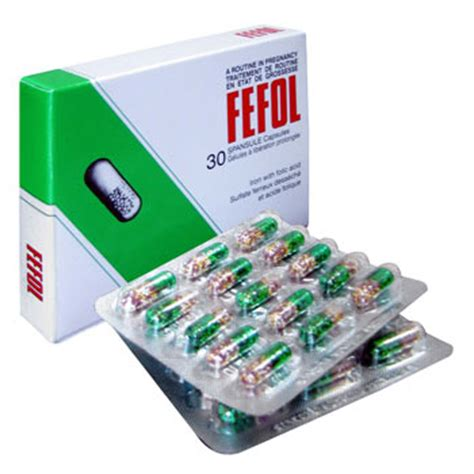 Fefol Iron Folate Supplement 30 Capsules Berkualitas fefol our vitamin shop