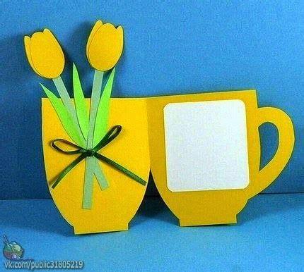 Flower Mug Card Template by Molde Para Hacer Tarjetas En Forma De Taza Con Tulipanes
