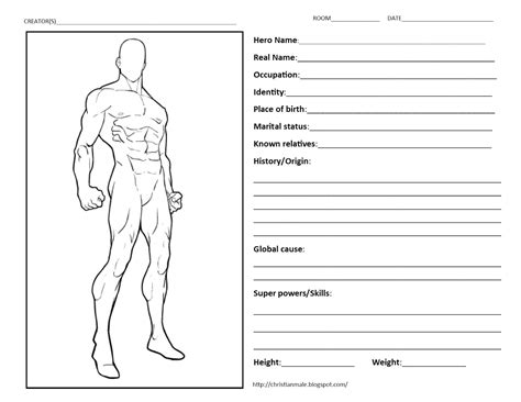 Create Your Own Superhero Worksheet Worksheets For All Download And Share Worksheets Free On Create Your Own Worksheet Template
