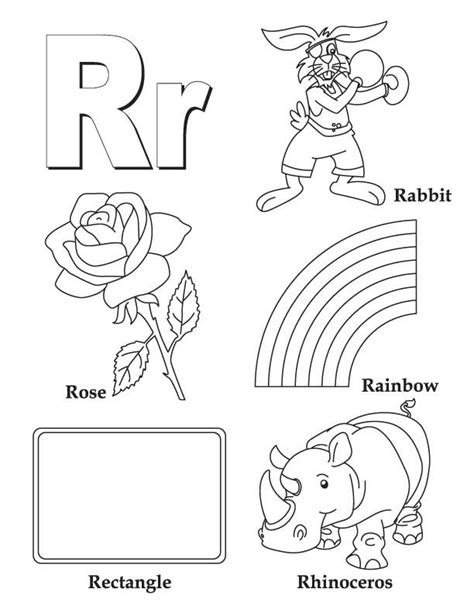 Image Letter R Coloring Pages Download The Letter R Coloring Pages