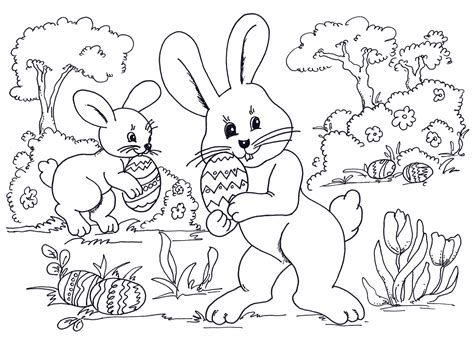 printable happy easter coloring pages  kids toddlers