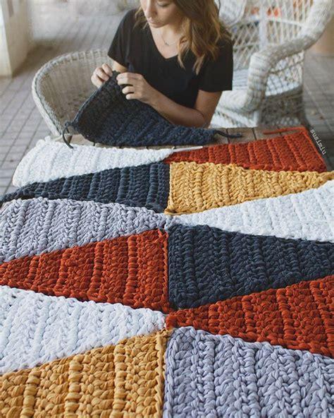 alfombra modelo hipster trapillo ganchillo ganchillo xxl  punto alfombras alfombra de