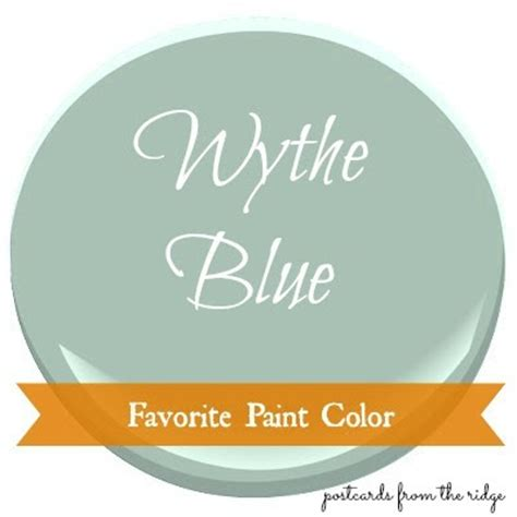 favorite paint color benjamin wythe blue postcards from the ridge