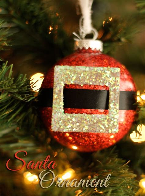 glitter santa claus christmas ornament craft floor