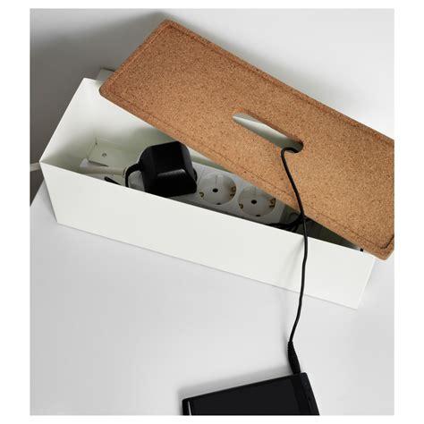 Kvissle Ikea by Kvissle Cable Management Box Cork White Cable