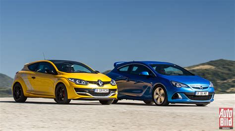 Auto Bild 01 2015 by Galerie Foto Opel Astra Opc Vs Renault Megane Rs Trophy