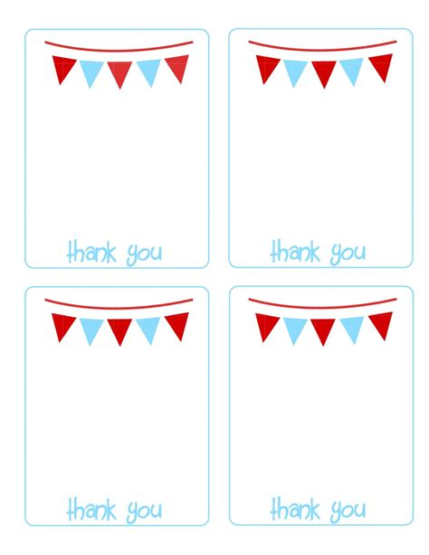thank you cards after template click image to print cards