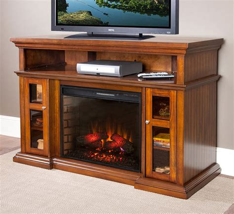 60 electric fireplace media center 60 quot pasadena burnished walnut electric fireplace