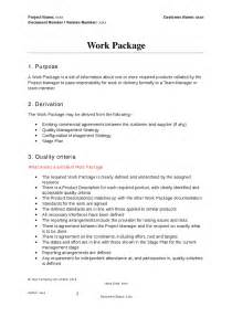 project work package template prince2 work package template hashdoc