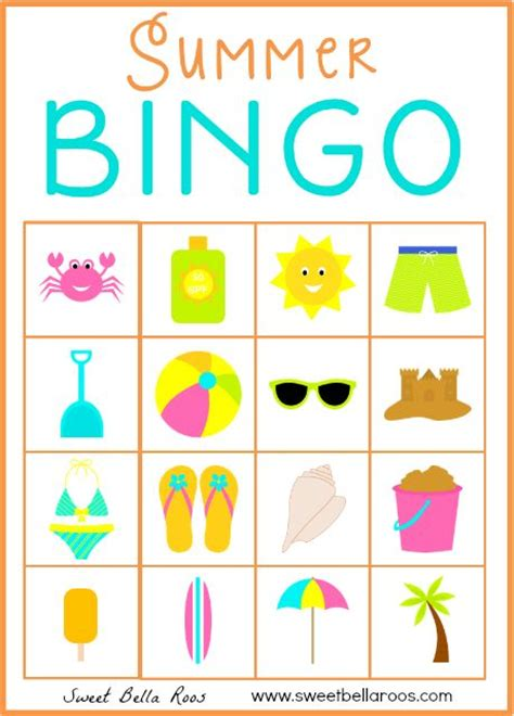 bingo summer and for kids on pinterest