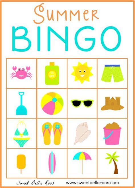 printable games bingo free download of summer bingo printable 10 cards in the