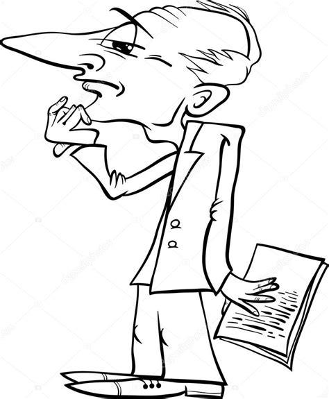 imagenes a blanco y negro apensar p 225 gina para colorear de dibujos animados hombre pensando