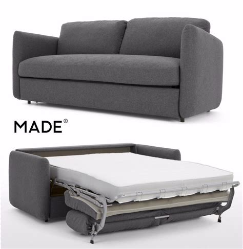 Made Sofa Bed by Made Fletcher 3 Seater Sofa Bed With Memory Foam Mattress