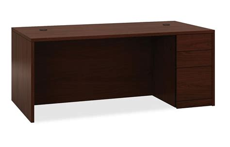 right single pedestal desk hon right single pedestal desk w pedestal 36 quot x 72