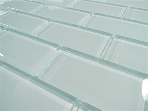 Kitchen Tile Backsplash Pictures by Arctic Ice 2 X 4 Crystal Glass Tile Brick Pattern Glass