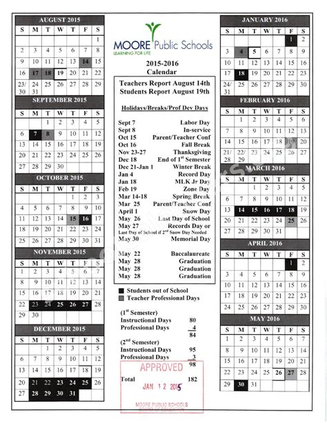 School District Calendar Elementary Calendar Related Keywords Suggestions
