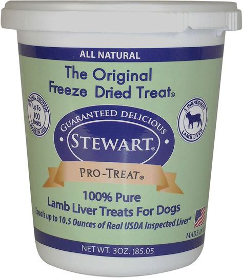 freeze dried treats stewart pro treat liver freeze dried treats 3 oz tub chewy