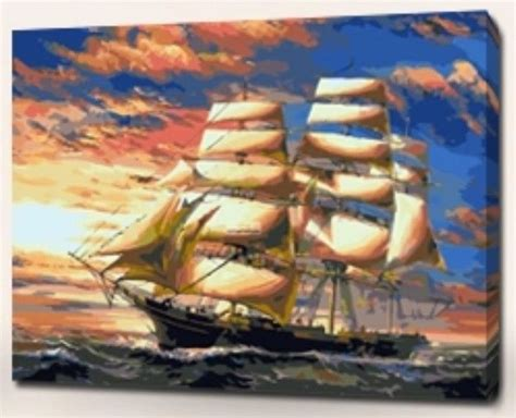 acrylic painting kits canada acrylic paint by number kit 50x40cm 20x16 sailing ship