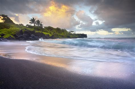 black sand beach maui maui photos patrick smith photography