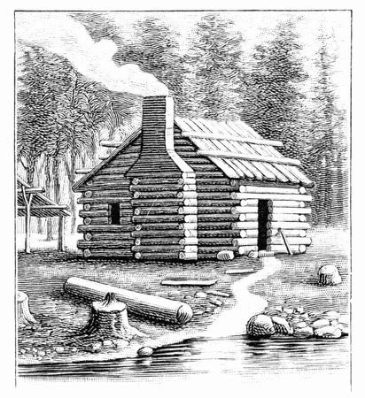 log cabin drawings the history reader a history blog from st martins press