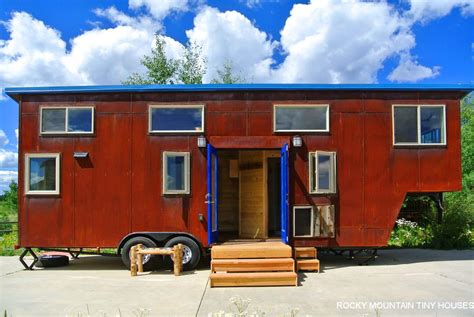 gooseneck tiny house rusted mountain roost gooseneck trailer tiny house