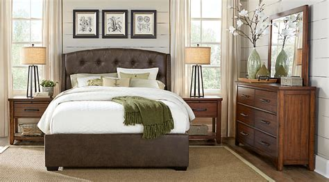 bedroom pic urban plains brown 5 pc king upholstered bedroom king