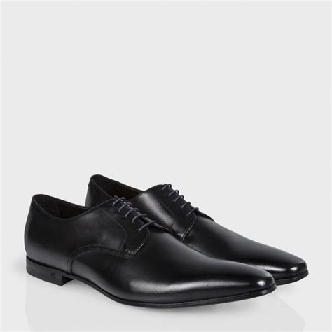 black derby shoes paul smith s black leather taylors derby shoes in
