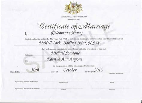 certificate template australia celebrant marriage celebrant sydney keith lammond