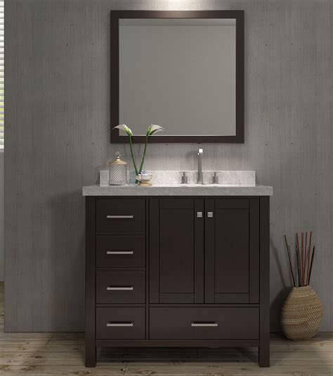right offset sink vanity ace cambridge 37 inch single sink bathroom vanity set