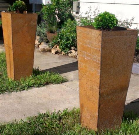 Custom Metal Planters by Crafted Custom Steel Planters By Napa Valley Custom