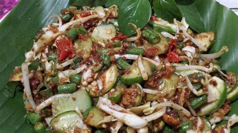 makanan tradisional vegetarian asli indonesia merahputih