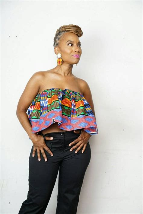 african print crop top k a b i l a crop top made from african kente print fabric