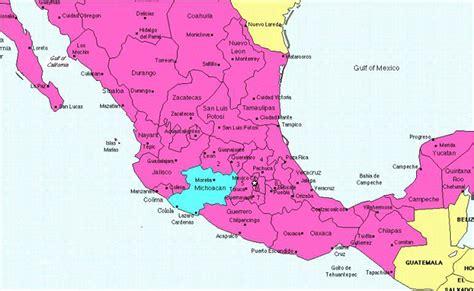map of michoacan mexico state maps morelia mexico map