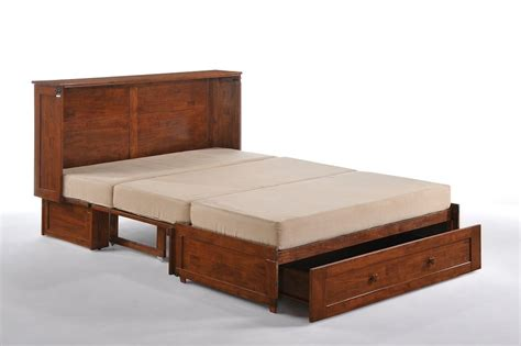 cabinet bed frame day clover murphy cabinet bed gel mattress cherry