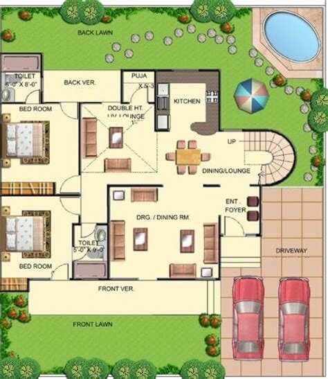 Single Story Farmhouse Plans bungalow house plans bungalow map design floor plan india