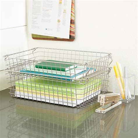 stackable storage stackable wire storage baskets with handles the