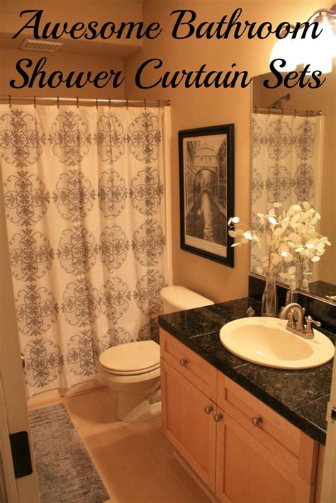 bathroom shower curtain sets awesome bathroom sets to brighten your bathroom decor