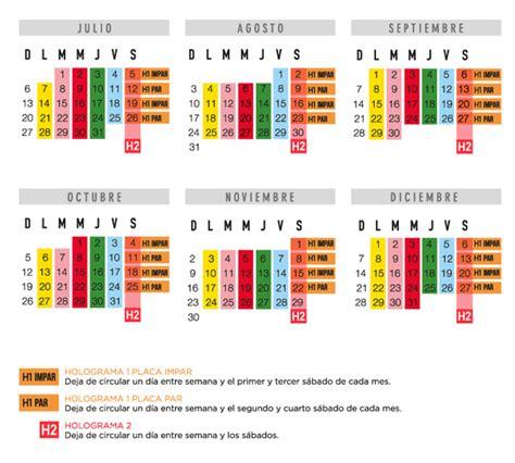 calendario de revista vehicular 2016 en ciudad de mexico calendario vehicular 2016 estado de mxico